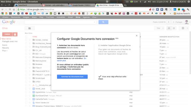 google drive offline